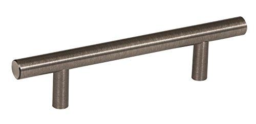 Amerock 2000825 Bar Pulls 3-3/4 in (96 mm) Center-to-Center Gunmetal Cabinet Pull ()