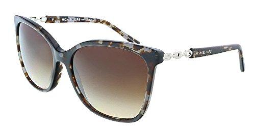 Michael Kors 6029 310713 Black Tortoise Silver Sabina Iii Wayfarer Sunglasses L