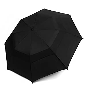 EEZ-Y Folding Golf Umbrella 58-inch Large Windproof Double Canopy - Auto Open, Sturdy and Portable from EEZ-Y Premium Products