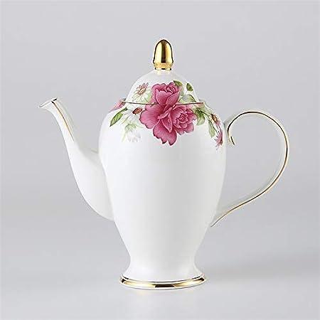 Olla de té de Porcelana China Antigua con infusor Cafetera de Porcelana de Europa 1000 ml Tetera de cerámica Café Teatime Drinkware Queen Rose: Amazon.es: Hogar