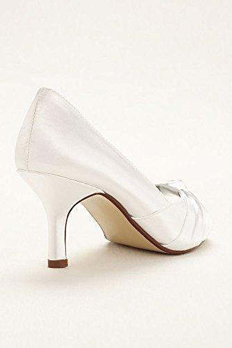 Davids Bridal Ida Dyeable Peep Toe Pump Style Ida Apple