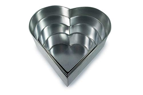 Set of 4 Tier Heart Multilayer Birthday/Wedding Anniversary Cake Tins/Cake Pans/Cake Moulds 6