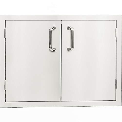 BBQGUYS Kingston Series 36-Inch Stainless Steel Enclosed Cabinet Storage with - Kingston Series