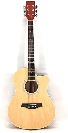ギター 学生フォークアコースティックギターマット40インチの明るい全Tochi初心者ギター入門します アコースティックギター (Color : Natural, Size : 40 inches)