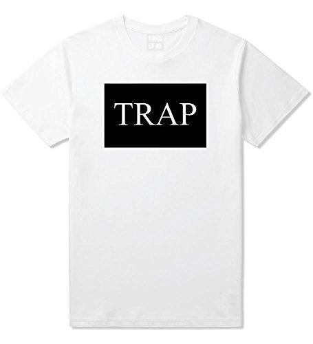 - Kings Of NY Trap Hood Dope Cool TI Box Logo NYC T-Shirt Medium White