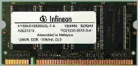 Infineon 128MB Ddr Laptop - Laptop Infineon