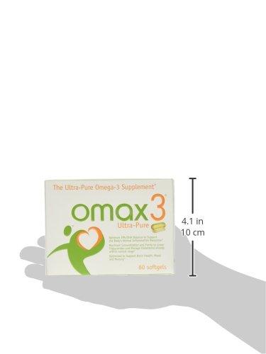 Omax3 - Die Ultra Pure Omega-3/Essentielle Fettsäure/Fisch-Öl-Ergänzung. von Verunreinigungen und Toxisch. 16 Weitere Omega-3 als Krill Öl maximale Konzentration und Reinheit zu niedrigeren Triglyceride und verwalten Cholesterin. 2 Portionen von Kapseln 1,5 g Omega-3 Fettsäuren 1125 mg Epa und 275 DHA Einzigartige Patentierte 4:1 verhältnis von Epa:DHA
