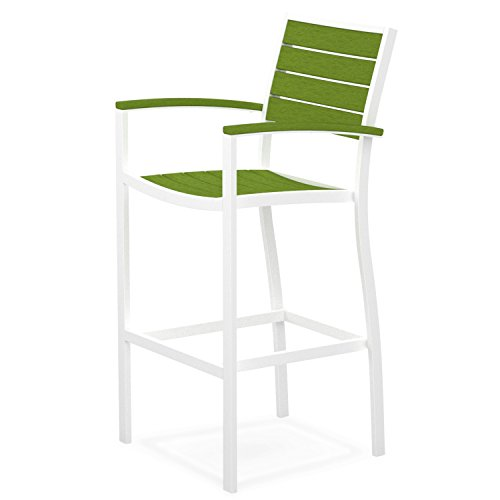 Arm Euro Bar Stool - Euro Bar Arm Chair Seat and Back Finish: Lime, Finish: Textured White