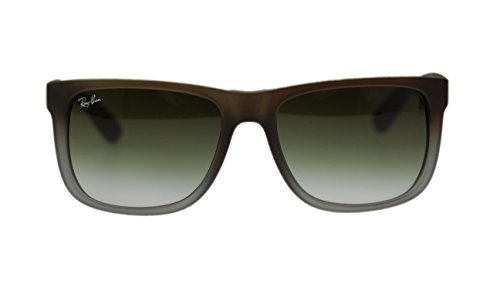 Ray Ban Justin Mens Sunglasses RB4165 854/7Z Rubber Brown on Grey - Ban Oakley Ray