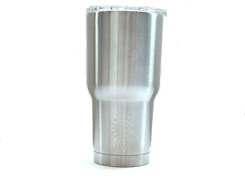 Vivik Stainless Steel Tumbler 30 Oz Cup with NEW Spill and Splash Resistant Lid with Slider Closure - Double Wall Vacuum Insulated Premium Thermos - GUARANTEED to Keep Coffee HOT and Iced Tea COLD!