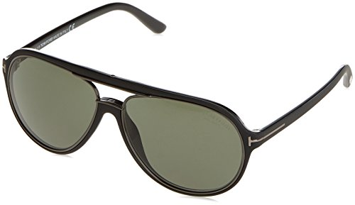 Tom Ford TF379 02R Matte Black Sergio Aviator Sunglasses Lens Category 3 Size - Aviator Ford Tom Women Sunglasses