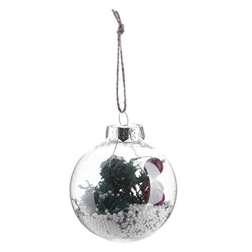 Ball Ornaments - Christmas Tree Drop Ornaments Xmas Pendant Hanging Ball Decor - Black To Caramel Shatterproof Rose Germany Fillable Holder Multi Plastic