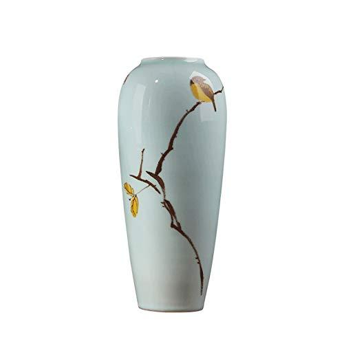 花瓶セラミック装飾品現代中国のリビングルームテレビキャビネットドライフラワーフラワーアレンジメントホームデコレーション HUXIUPING (Size : L) B07T63HY1Q  Large