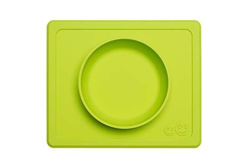 ezpz Mini Bowl - One-Piece Silicone placemat + Bowl (Lime) ()
