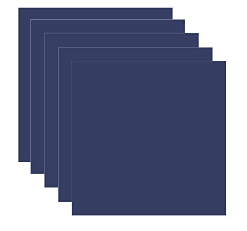 "Dark Blue - Navy Blue (Glossy) 5-pack of Adhesive Vinyl Sheets - 12""x12"" Outdoor/permanent - Vinylxsticker"