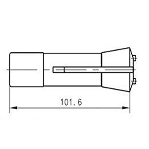 HHIP 3900-1611 5C Emergency Collet Steel, 1/16''