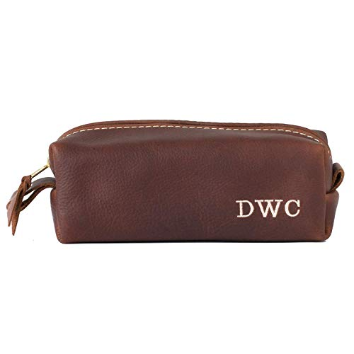 Amazon.com  Leather Dopp Kit Bag cdbb8bff923e2