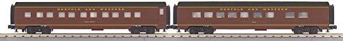MTH 30-68115 Norfolk & Western 2-Car 60' Streamlined Sleeper/Diner Franklin County