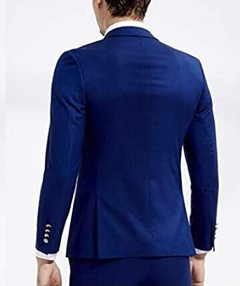 TOPG Slim Fit Royal Blue Wedding Suits 2 Pieces Mens Suits Groom Tuxedos Business Suit