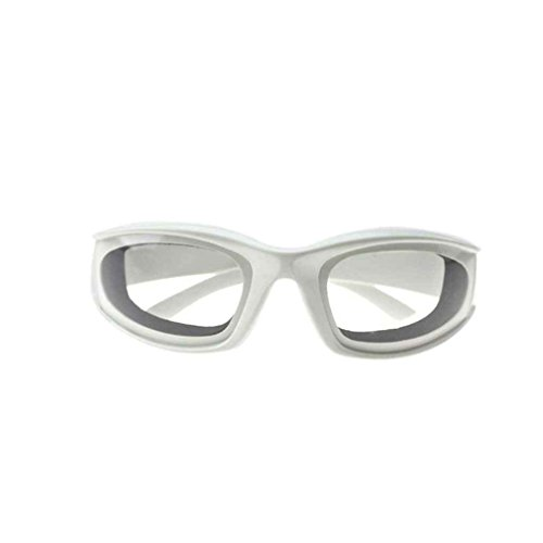 White Tear (MuLuo Onion Eye Protection Glasses Tear Free Cutting Slicing Mincing Chopping Goggles Kitchen Accessories White)