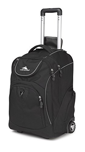 High Sierra Powerglide Wheeled Laptop Backpack, Black