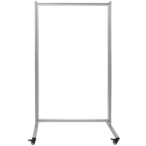 TableTop King MD4072W 38 1/2'' x 64'' Mobile Whiteboard Room Divider with Steel Frame by TableTop King
