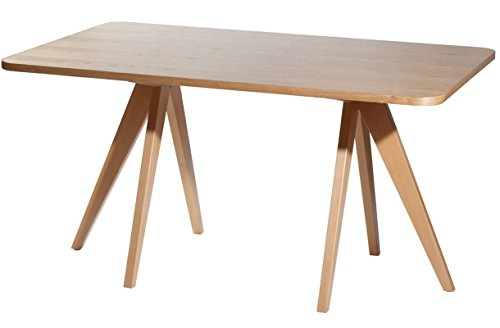 Mod Made Twin Tower Dining Table, Natural by Mod Made