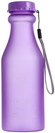 Rony Rass - Botella de Agua Deporte 550ml, Eco-Friendly de plastico - sin BPA, Reutilizables Botellas Agua para niños, Sport, Yoga, Gym, Oficina, Senderismo, Viajes Agua Botella a Prueba de Fugas