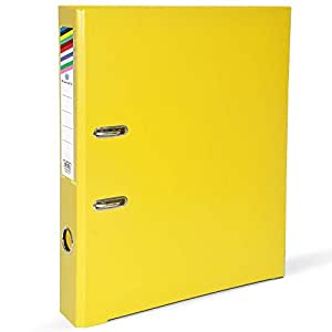 FIS PP Lever Arch Files with Slide-In Plate Yellow Color, Size of Spine is 4cm, A4 (210 X 297 mm) - FSBF4A4PYL
