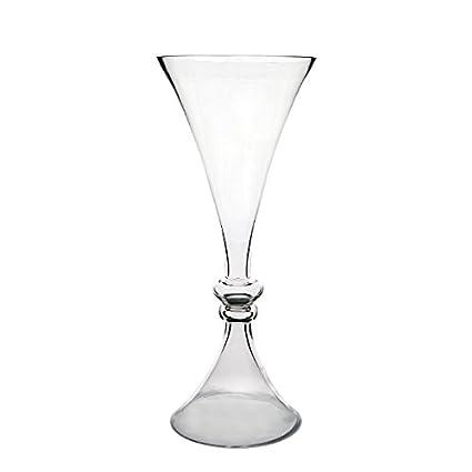 Amazon Cys Gtr166 4p Glass Reversible Trumpet Vase Glass
