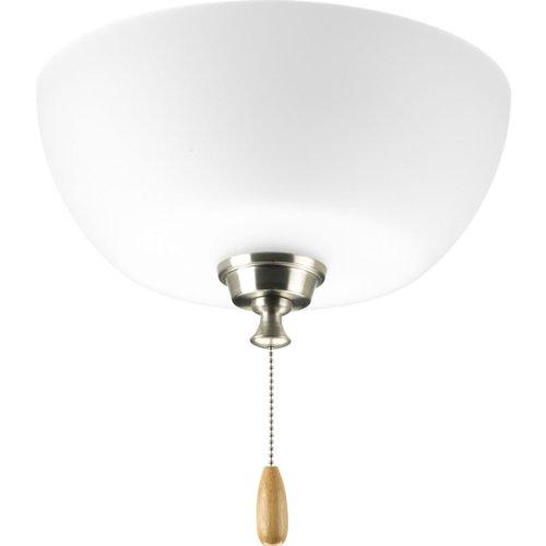 Progress Lighting P2649-09 Fan Light Kit, Brushed Nickel by Progress Lighting