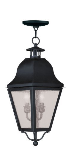 Livex Lighting 2546-04 Amwell 2-Light Outdoor Chain Hang, Black by Livex Lighting