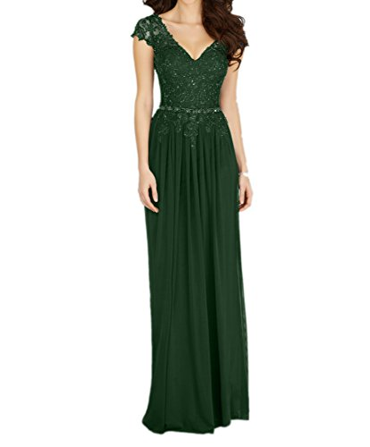 Navy mit Abschlussballkleider Braut mia Perlen Blau Ballkleider Promkleider Abendkleider Lang Dunkel Partykleider Gruen La Elegant w4tBgqvBP