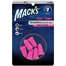 Mack\'s Shooters for Her Foam (3-Pair) Blister Pack Earplugs