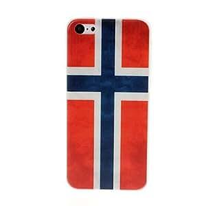 Modelo retro de la bandera de Noruega de plástico duro caso para iPhone 5C