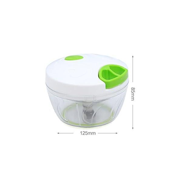 TiooDre Manuale Di Verdure Chopper Grinder Processore Multifunzione Carne Domestica Macchina Crusher Mixer Verde 3