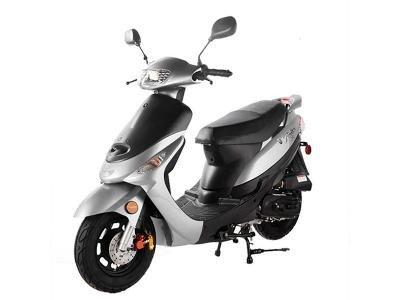 Taotao 50cc Gas Street Legal Scooter ATM50-A1 Scooter Sliver