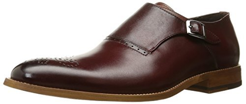 Stacy Adams Men's Dinsmore Plain Toe Monk Strap Red Oxford 9 EE Wide 25065-600-600