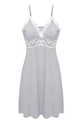 (Ekouaer Sleepwear Womens Chemise Nightgown Full Slip Lace Lounge)
