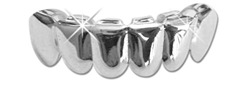 Hip Hop Platinum Silver Plated Removeable Mouth Grillz (bottom) Lower -