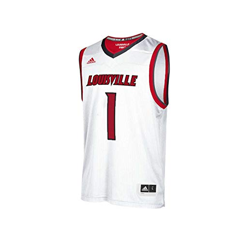 (NCAA Louisville Cardinals Mens Replica Basketball Jerseyreplica Basketball Jersey, White, Large)