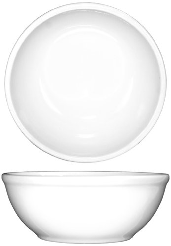 ITI-DO-24 Porcelain Dover 10-Ounce 5-Inch Nappie Bowl, 36-Piece, White