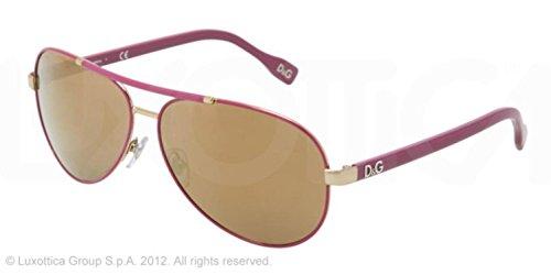 D&G Sunglasses DD 6078 1115/F9 Metal Pink fuschia fuchsia Brown - Pink Sunglasses D&g
