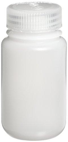 Nalgene 2189-0004 Wide-Mouth Lab Sample Bottle, HDPE, Economy, 125mL (Case of 72)
