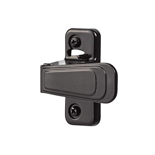 Ideal Security Inc. WCAC WC Storm and Screen Doors with with Night Latch, Locks from Inside Only Only, Black