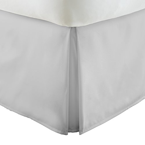 Simply Soft Pleated Bed Skirt, California King, Light Gray