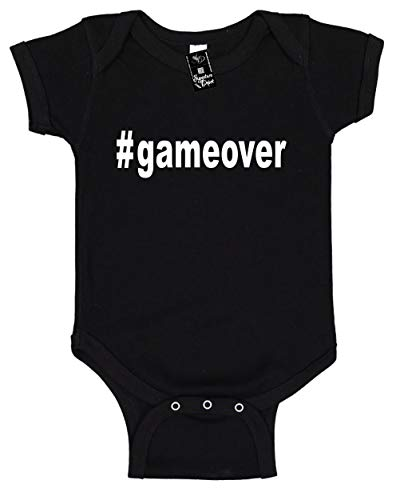 Signature Depot Infant Funny Baby Onesie Unisex T-Shirt Size 6 (#gameover (Hashtag) from Signature Depot