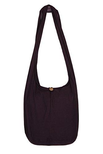 de diseño nbsp;– viaje mano Dark de de nbsp;100 hombro Bolsa flores Purple bolso Gypsy Hippie algodón de bolsa Sling Tailandés Boho qaP7Eq