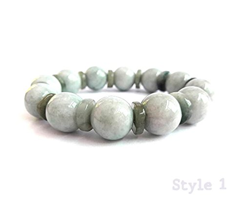 KARATGEM Multi-Style Natural Jadeite Jade Adjustable Rope String Bracelet Bangle Beads (Style (Jade Rope)