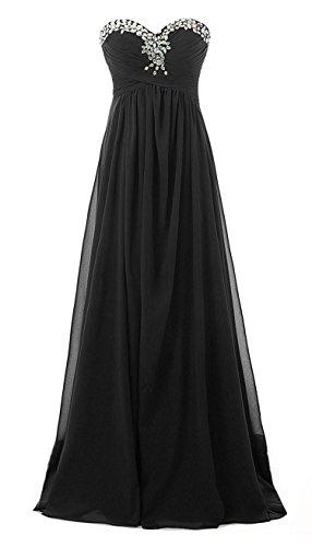 Kleid lang schwarz glitzer